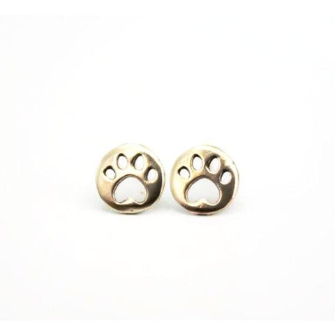 Coin Shaped Dog Earrings