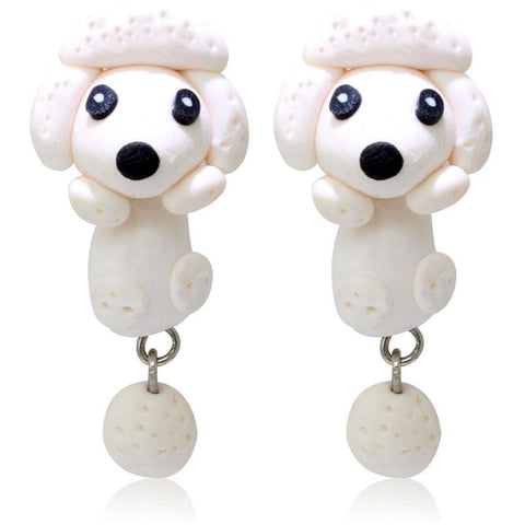 Polymer Clay 3D Dog Earrings