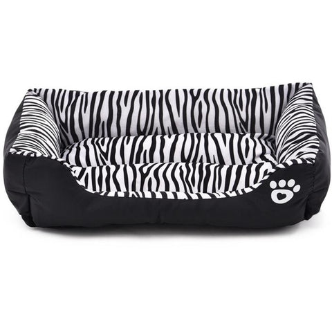 Zebra Black White Stripe Bed