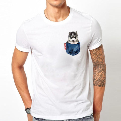 Pocket Dog T-shirt - furry-tale