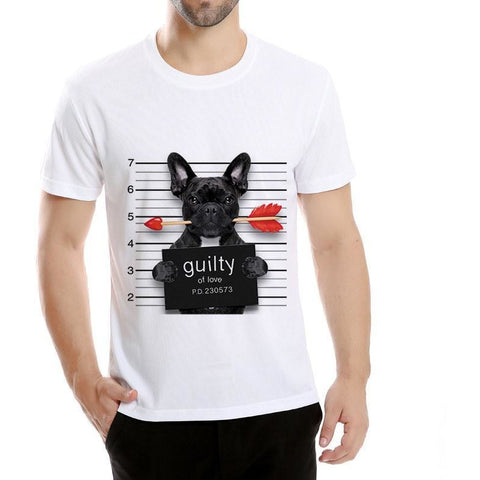 Arrested dog T- shirt Man