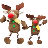 Stuffed And Squeaky Deer Toy