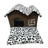 Warm Dog villa With Folding Front Mat - furry-tale