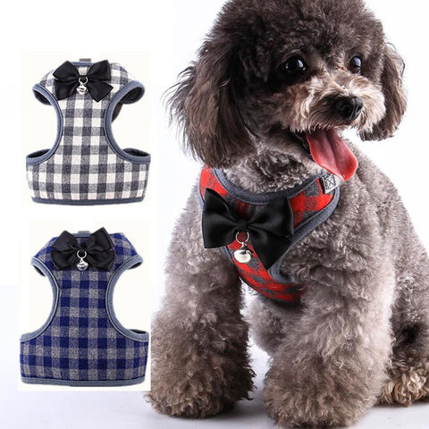 Cottton Plaid Harness Lead Set - furry-tale