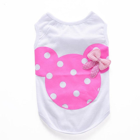 Cartoon Mouse Bowknot Shirt For Dogs