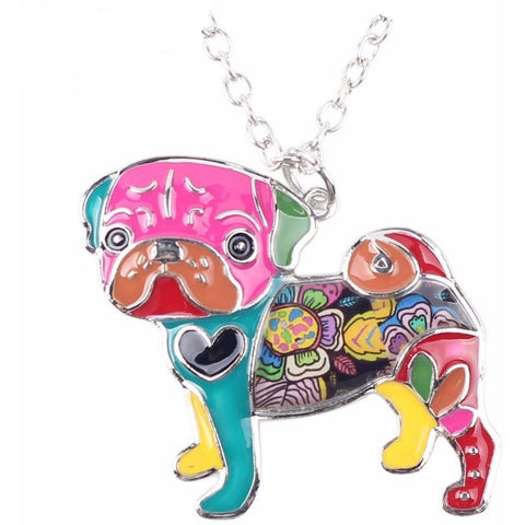 Pug Love Necklace - furry-tale
