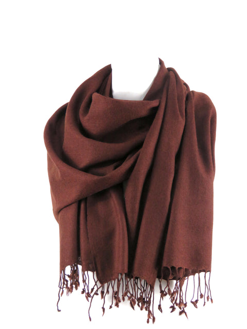 Fine Wool Long Fringe Chestnut
