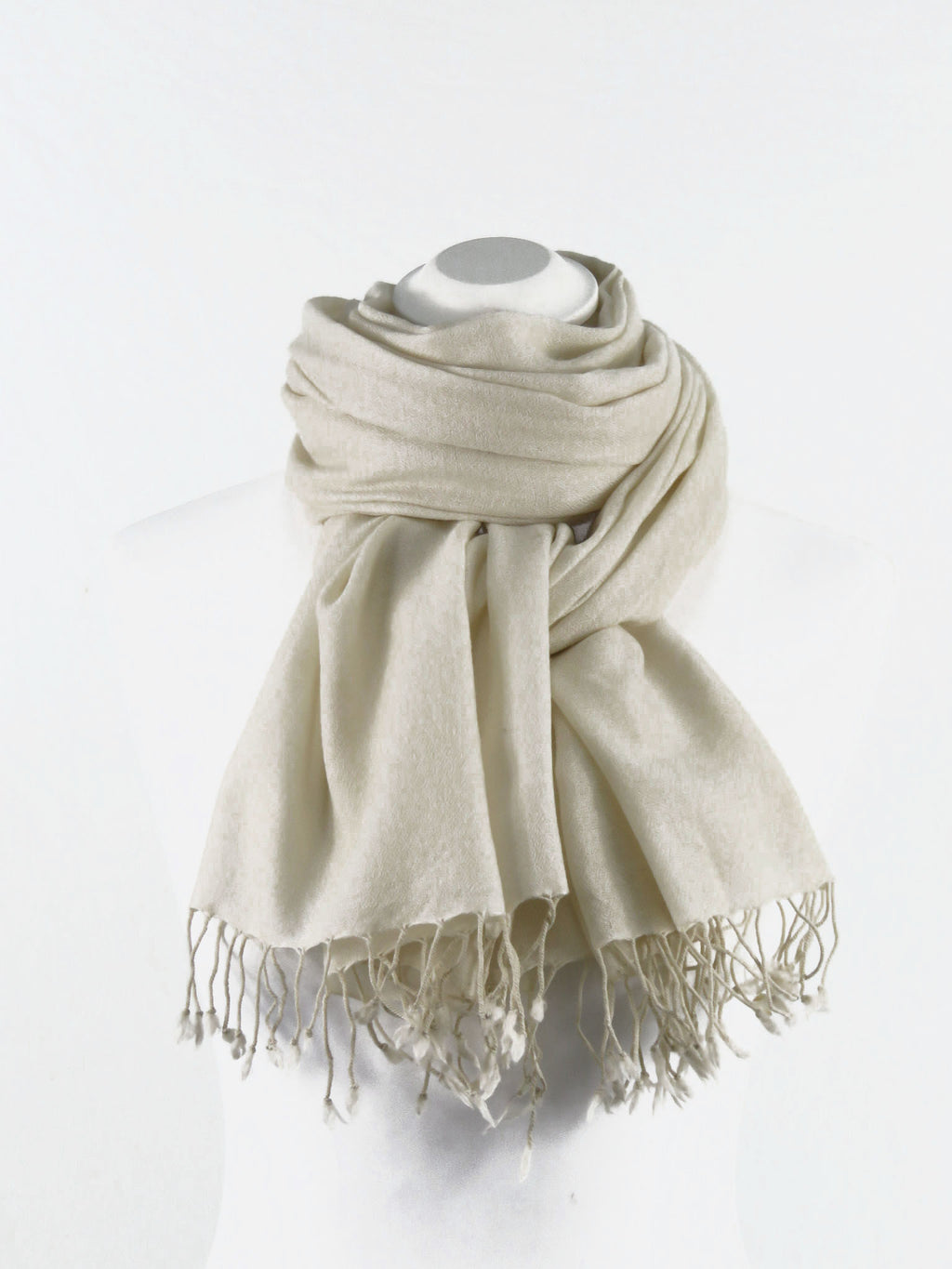 Fine Wool Long Fringe Ivory
