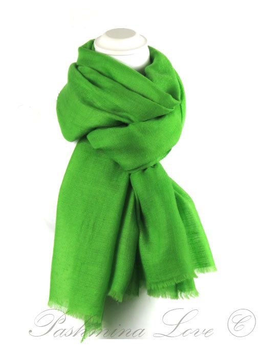 Cashmere Pashmina Apple Green