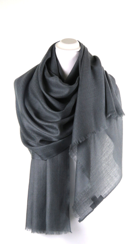 Merino wollen Pashmina Anchor Grey