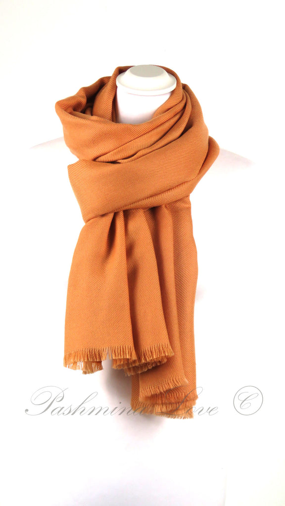 Superior Dubbellaagse Pashmina Orange Tiger