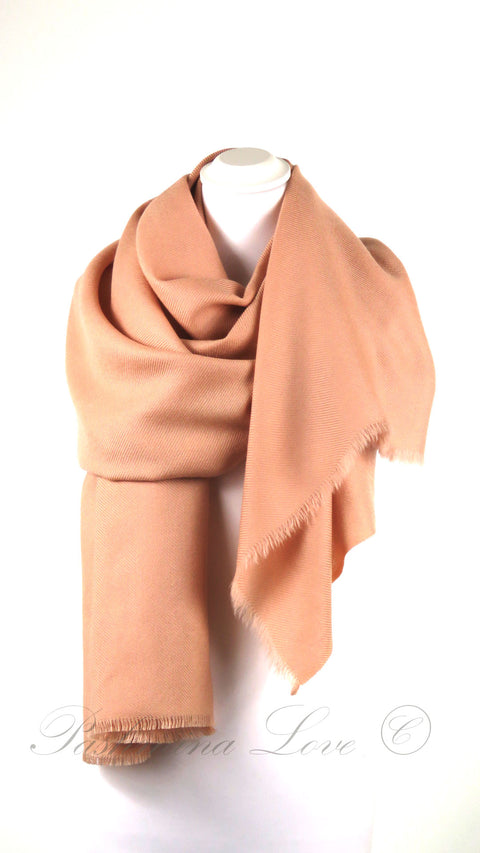 Superior Dubbellaagse Pashmina Peach Pink