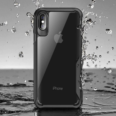 "Luxury Glossy Mirror Tempered Glass Camera Protection Hard Back Case Cover for Apple iPhone XS Max (6.5"")"