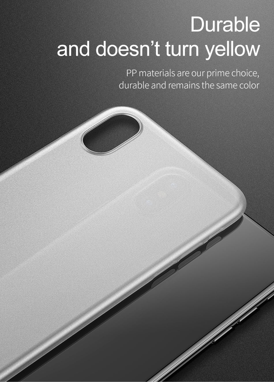 Premium Feather Light Paper Thin 0.2mm Protection Case for Apple iPhone iX/iXS