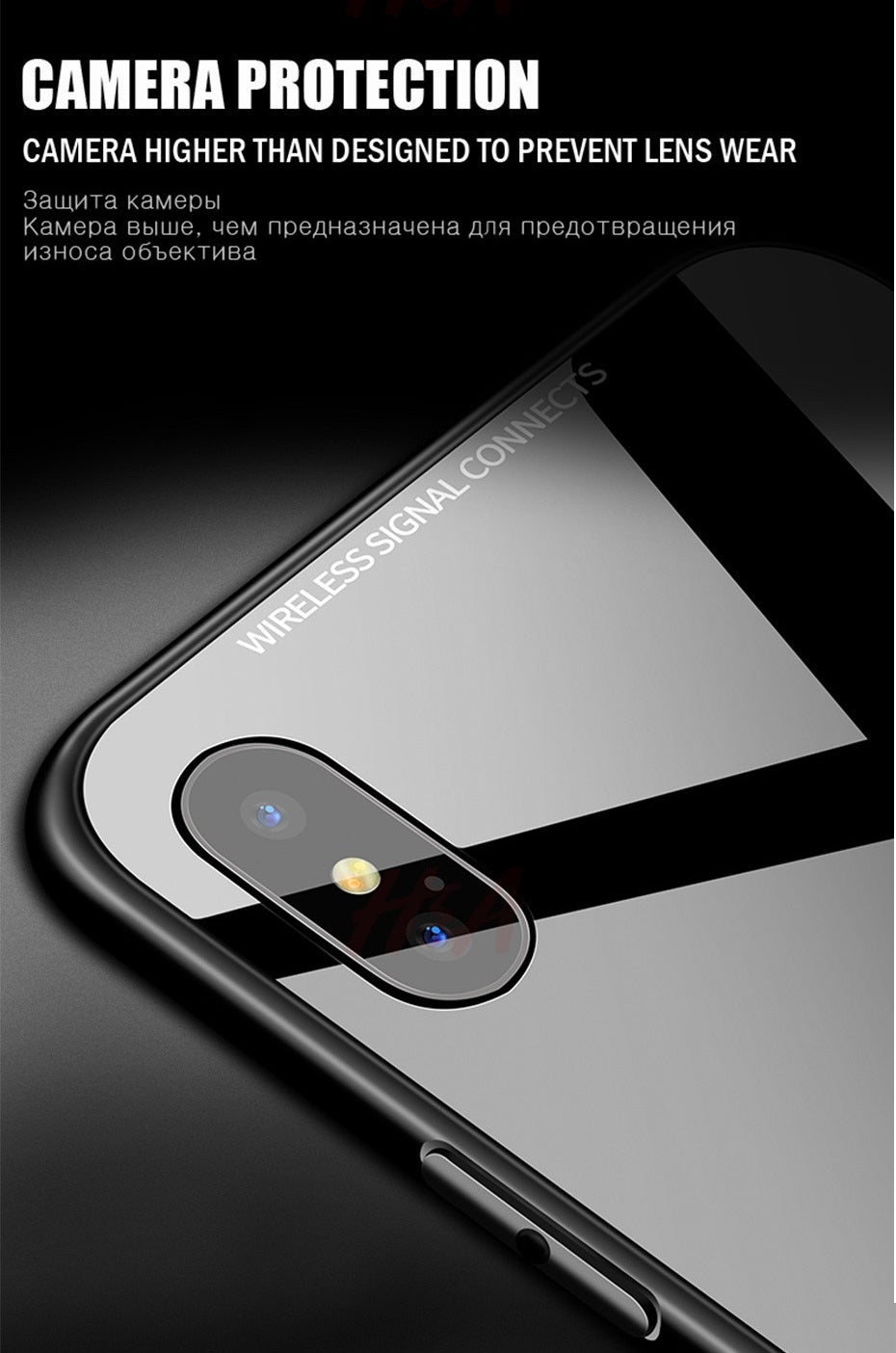 Luxury Tempered Glass Back Hybrid Case Soft TPU Bumper Back Case Cover for Apple iPhone X / XS 2018