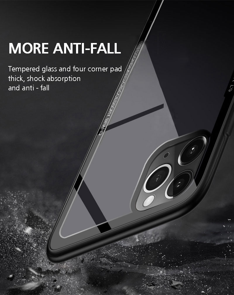 Luxury See Through Unique Glass Case for iPhone 11 Pro [Best Selling Case]