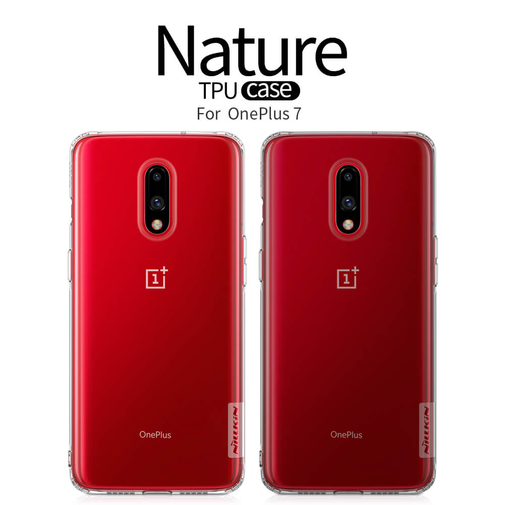 Nillkin Nature Series Shockproof Soft Silicon Clear TPU Case for OnePlus 7