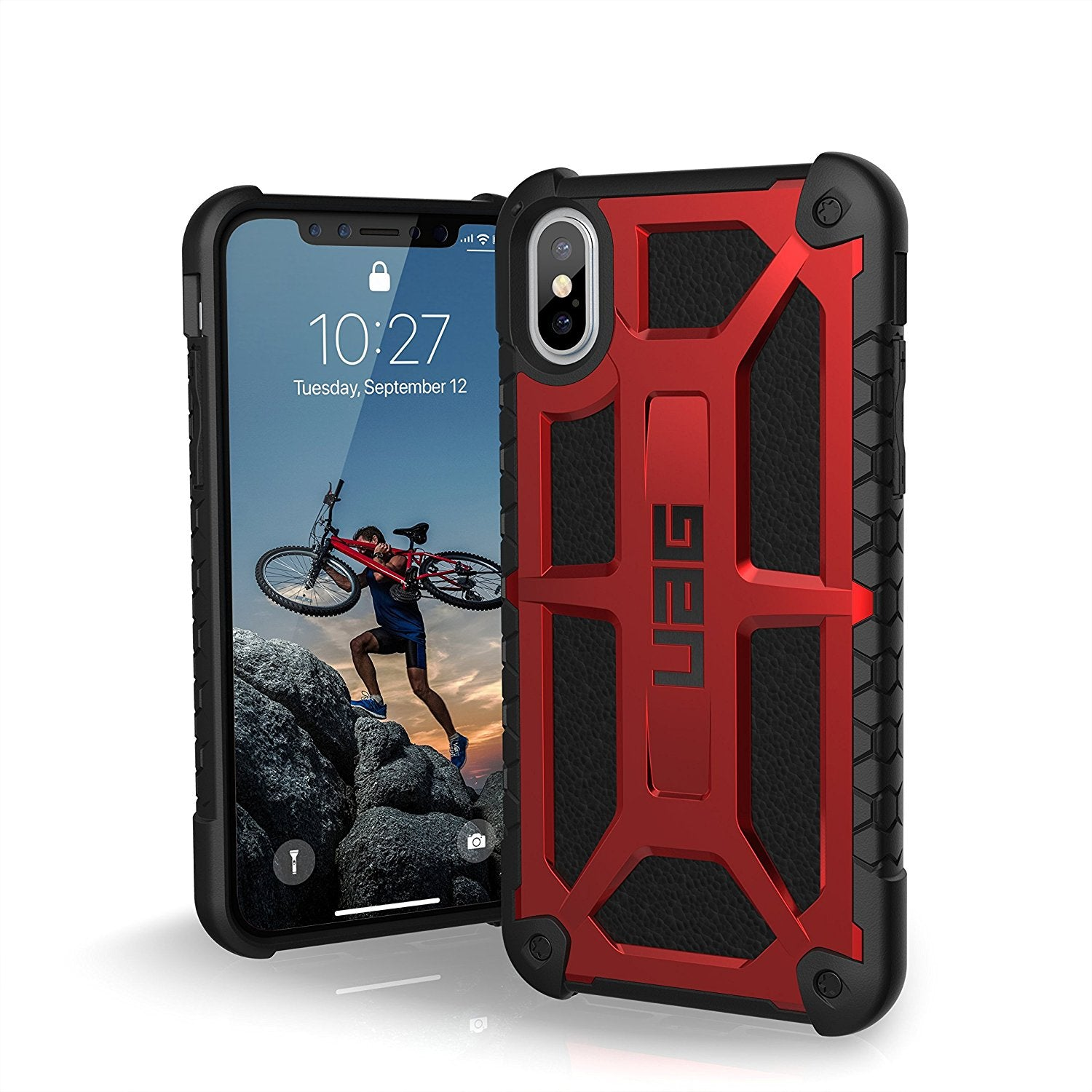 UAG Monarch Military Drop Tested Rugged Leather Armor Slim Back Case Cover for Apple iPhone X / XS 2018