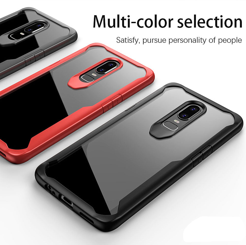 Premium Eagle Series Heavy Duty Anti Knock Shockproof Case for Oneplus 6 / One Plus 6 - BLACK