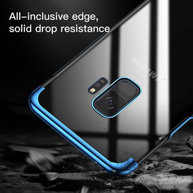 Luxury High End Electroplated Naked Hard Shell PC Back Case for Samsung Galaxy S9 Plus