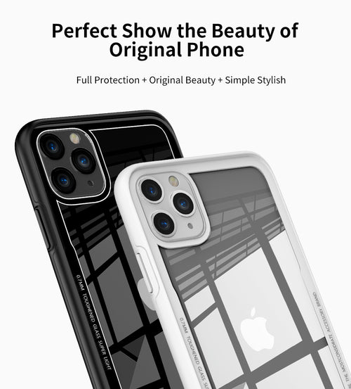Luxury See Through Unique Glass Case for iPhone 11 Pro Max [Best Selling Case]