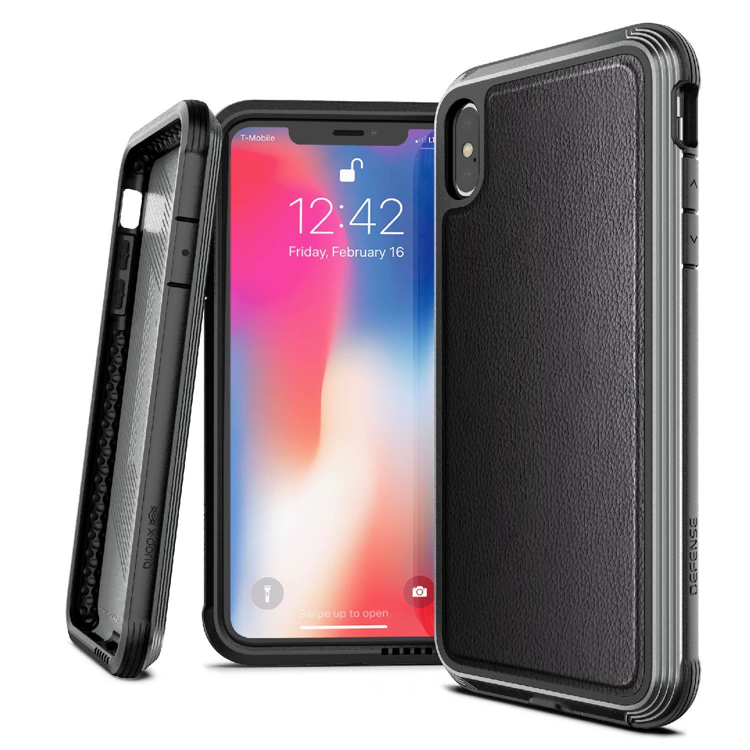 "Premium X-Doria Defense Lux Series Hybrid Anti Knock Hybrid Back Case Cover for Apple iPhone XS Max (6.5"")"