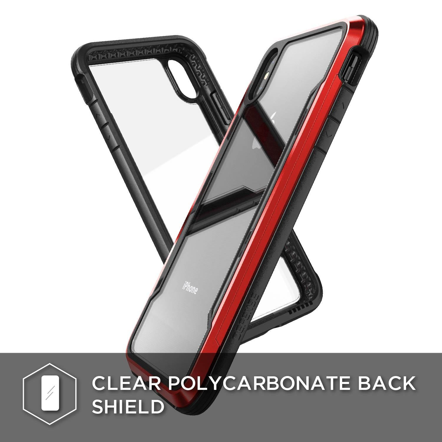 "Premium X-Doria Defense Shield Hybrid Anti Knock Transparent Back Case Cover for Apple iPhone XS Max (6.5"")"