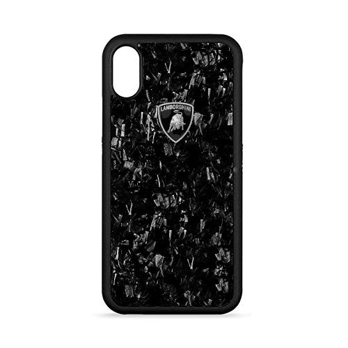 Luxury Automobili Lamborghini Huracan D14 Series Marble Finish Back Case Cover for Apple iPhone X / XS 2018
