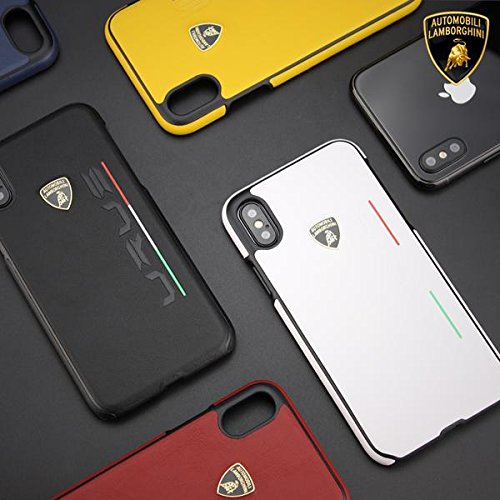 Luxury Automobili Lamborghini Urus D2 Series Genuine Leather Back Case Cover for Apple iPhone X / XS 2018