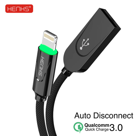 HENKS® QC 3.0 Certified Zinc Alloy Smart Fast Charging & Data Sync Cable for all Samsung, OnePlus, Oppo, Vivo, Xiaomi Type C Mobiles