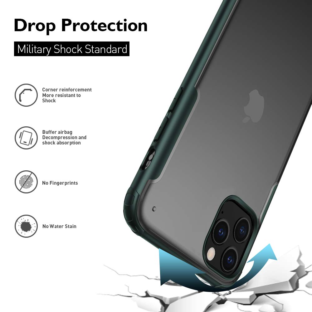 Henks® Luxury Frosted Cloudy Series Matte Case for iPhone 11 Pro