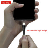 HENKS Lamp Light Fast Charging USB Data Sync Cable for Apple iPhone