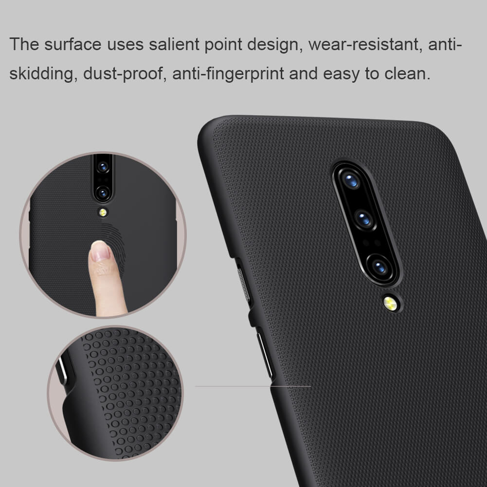 Nillkin Super Frosted Shield Matte Finish Ultra Slim Back Case Cover for OnePlus 7 Pro - BLACK