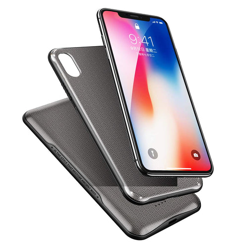 ROCK P69 5000mAh Wireless Charger Power Bank Magnetic Wireless Charging Case for iPhone XS Max - Black