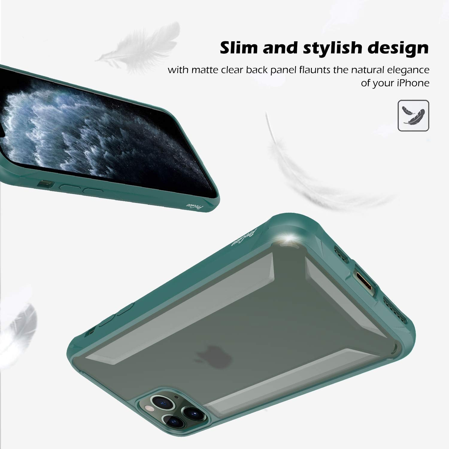 Premium Hybrid Protection Heavy Duty Soft TPU+Hard PC Clear Case for Apple iPhone 11