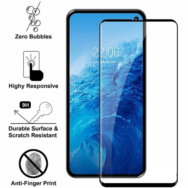 Henks® Exclusive 360 Tempered Glass with UV Fingerprint Unlock Feature for Samsung Galaxy S10 Plus