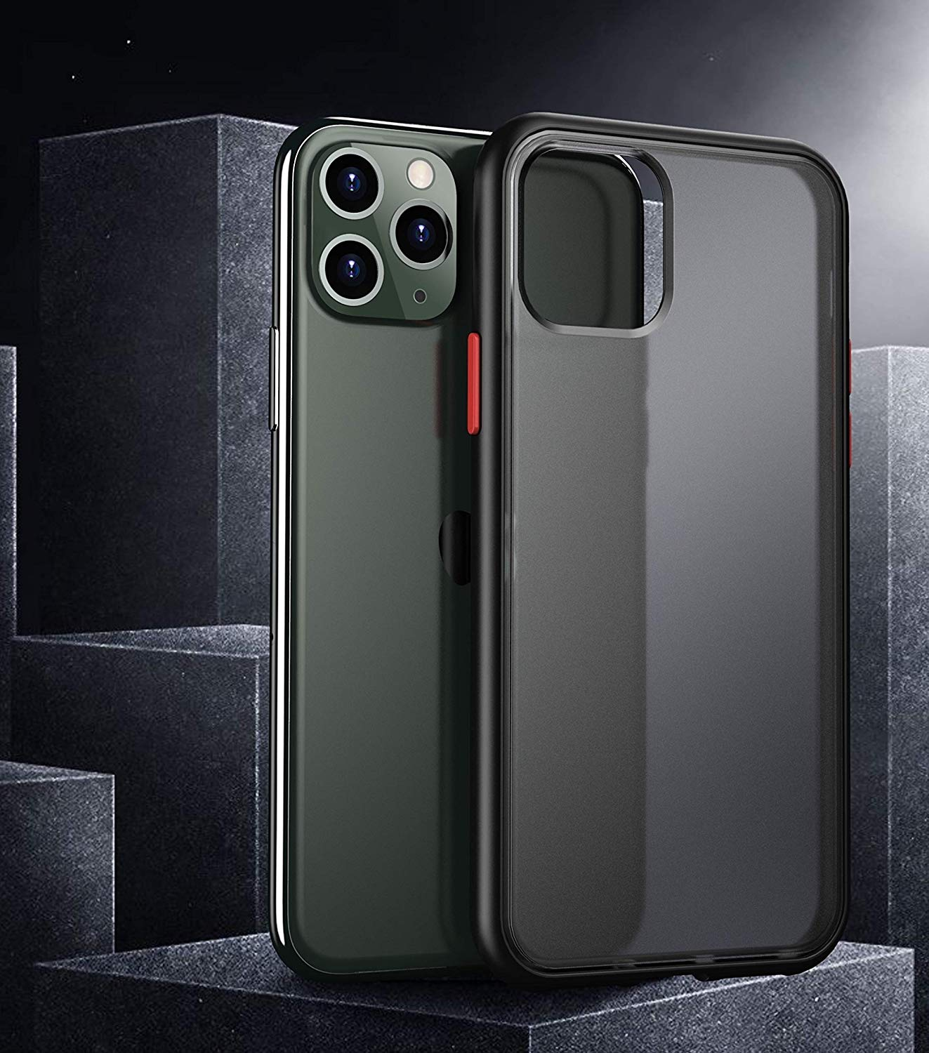 Henks® Premium Polychromatic Case with Contrast Buttons for iPhone 11 Pro