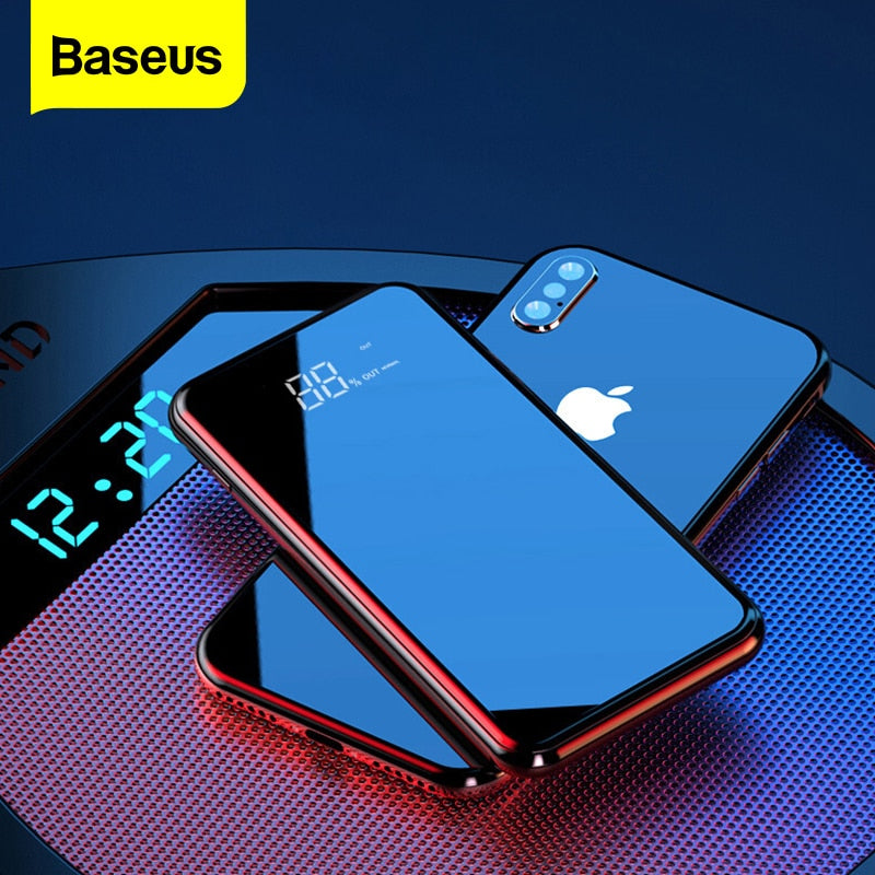 Baseus Full Screen Mirror Finish Wireless Charging 8000mAh Slim Powerbank