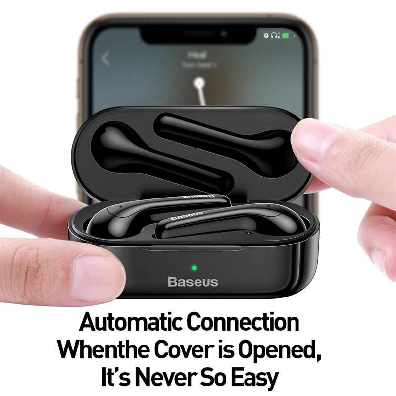 Baseus® TWS True Wireless Bluetooth Earphone Earbuds AirPods Noise Cancellation