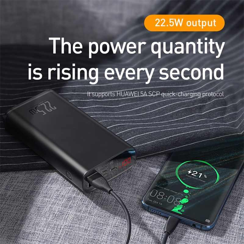 Baseus Star Light QC 3.0 PD 22.5W 20000mAh Ultra Fast Power Bank with LED Display & MacBook Charging Support
