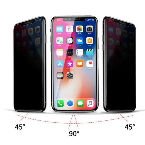 Henks® True Glass Anti Peep Privacy Tempered for iPhone XS