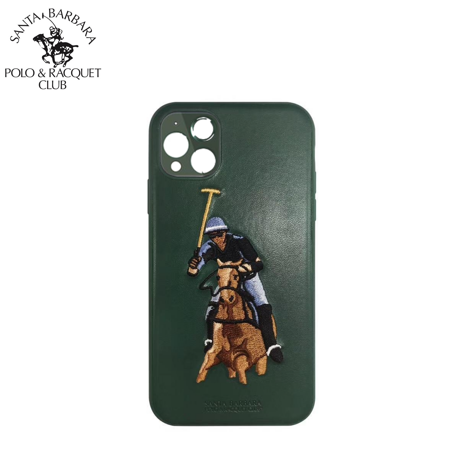 Santa Barbara Polo & Racquet Club Jockey Series Genuine Leather Case Cover for Apple iPhone 11 6.1""