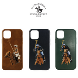 Santa Barbara Polo & Racquet Club Jockey Series Genuine Leather Case Cover for Apple iPhone 11 6.1