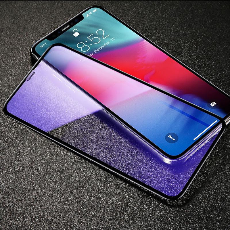 Premium Baseus 0.3mm 3D Screen Protector Curved Edge Full Screen Tempered Glass For iPhone XS Max - Black