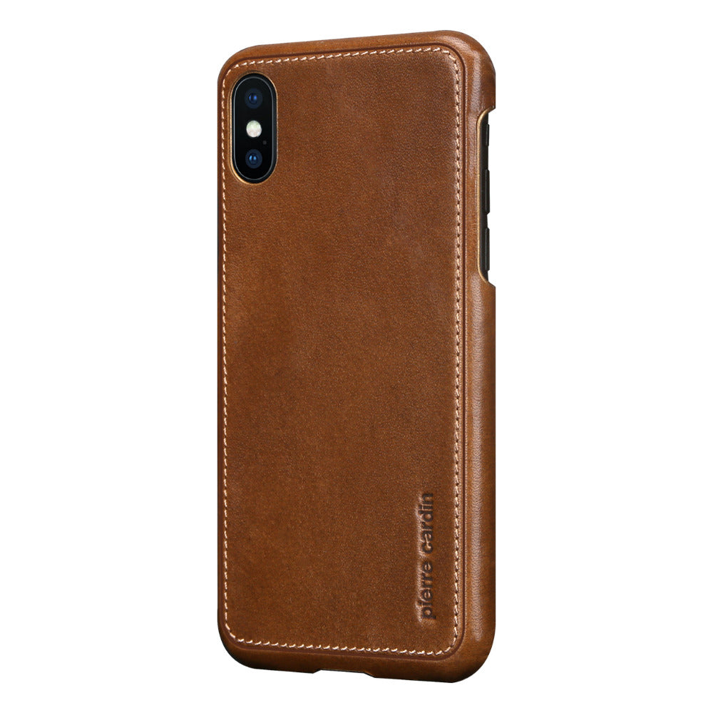 7b8ede21ea ... Pierre Cardin Genuine Leather Hard Back Case Cover for Apple iPhone X /  XS 2018 ...