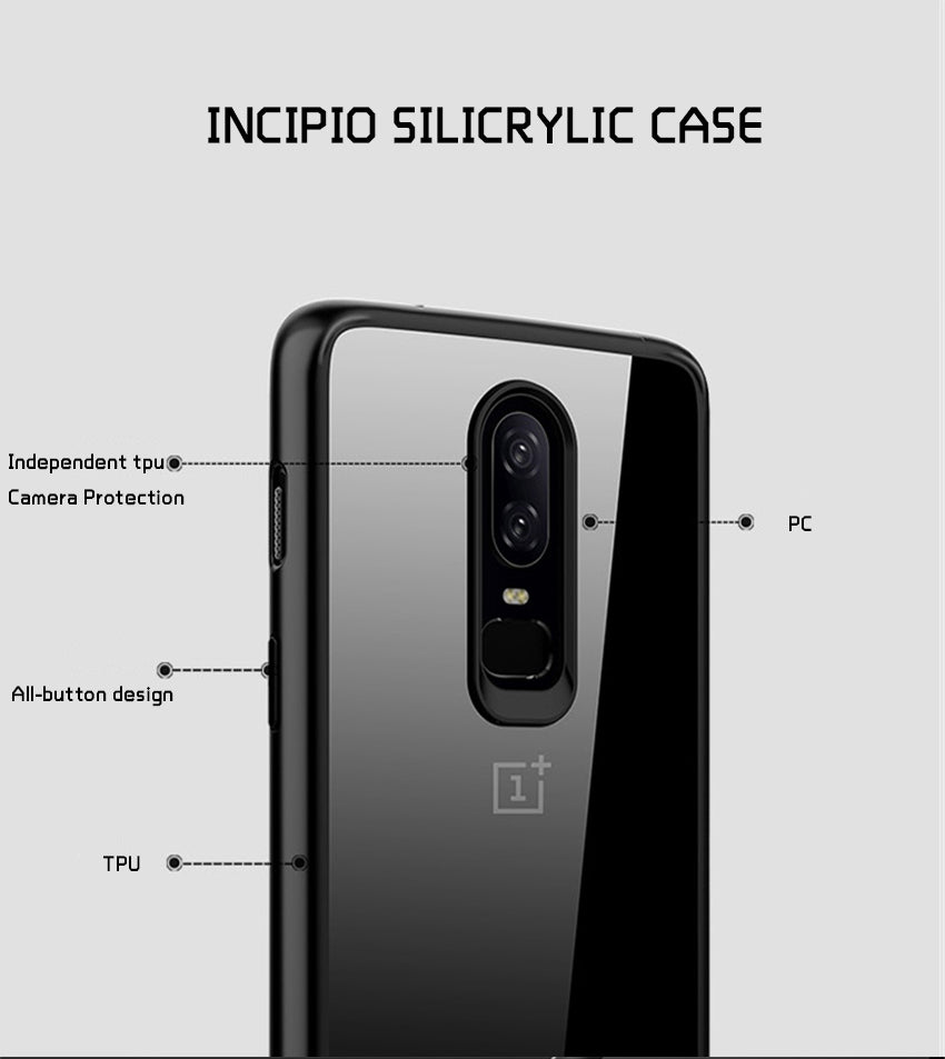 Luxury Ultra Slim Naked Shell Fusion Camera Protection Case for OnePlus 6 / One Plus 6 / 1+6