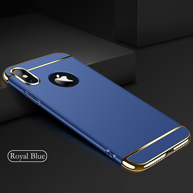 Luxury Chrome Electroplating Splicing 3in1 Case for iPhone X / XS 2018