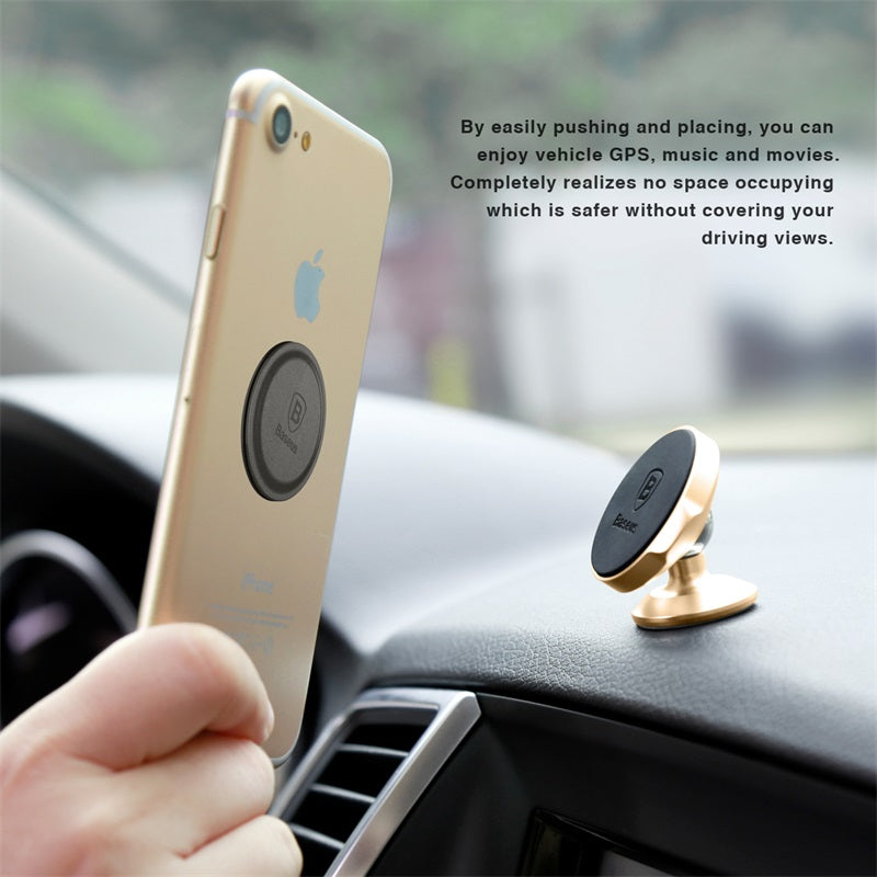 Baseus Magnetic 360' Rotation Car Phone Holder for iPhone, Samsung, HTC, Xiaomi, Nokia