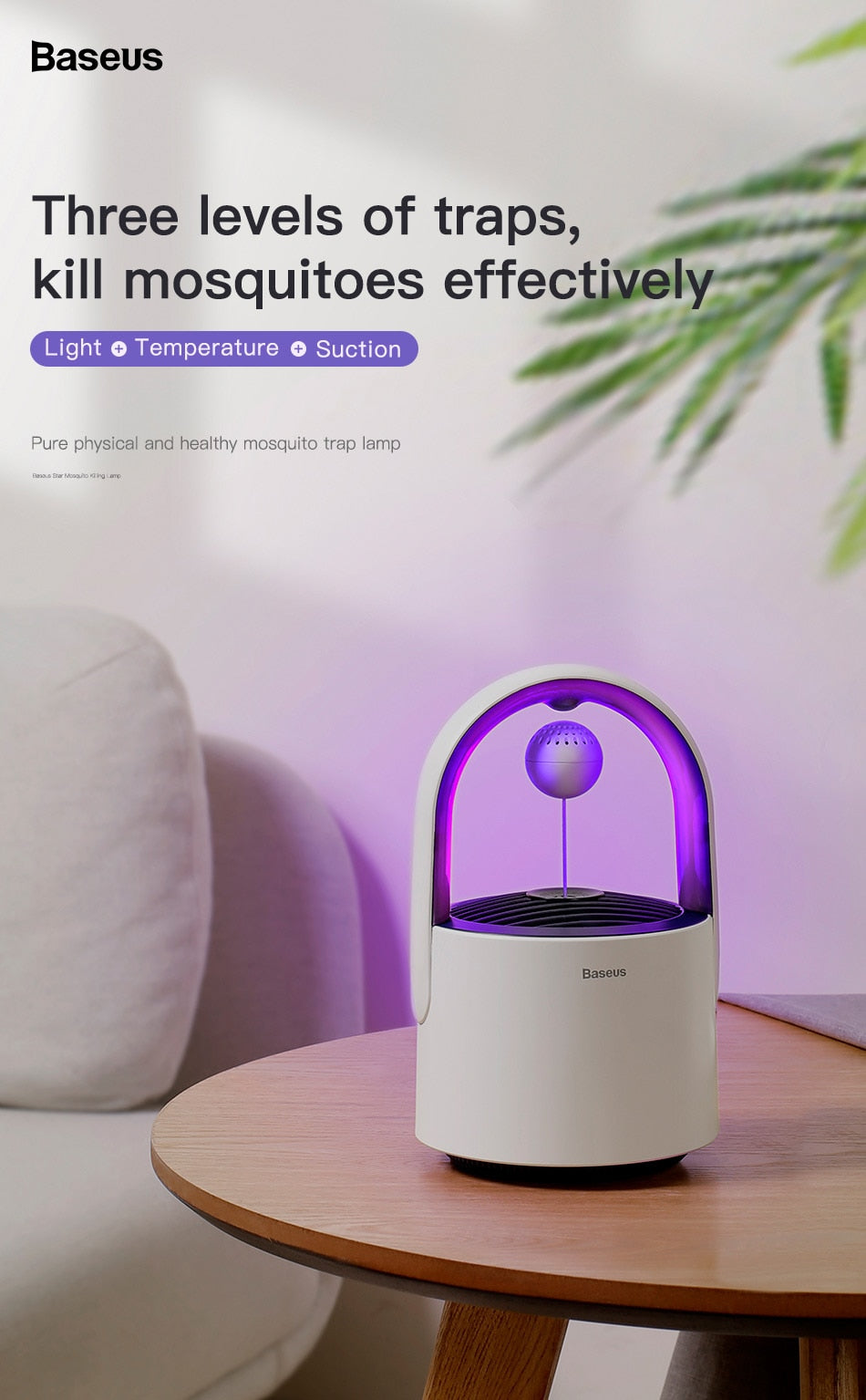 Baseus Star Mosquito Killer Machine UV Light Insect Trap Mosquito Repellent with Inbuilt Trap Fan