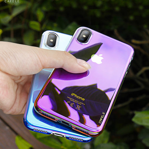Premium Candy Series Anti-Shock Soft Silicone Back Case Cover for Apple iPhone X / XS